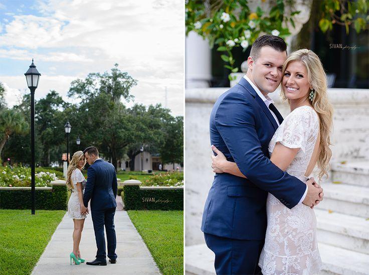 Lindsay and Kiel | Engagement Photography | Sivan Photography | Rollins College | Kraft Azalea Gardens