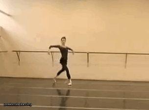 Viktoria Tereshkina rehearsing renverses in the Odile variation in Mariinsky's 'Swan Lake'