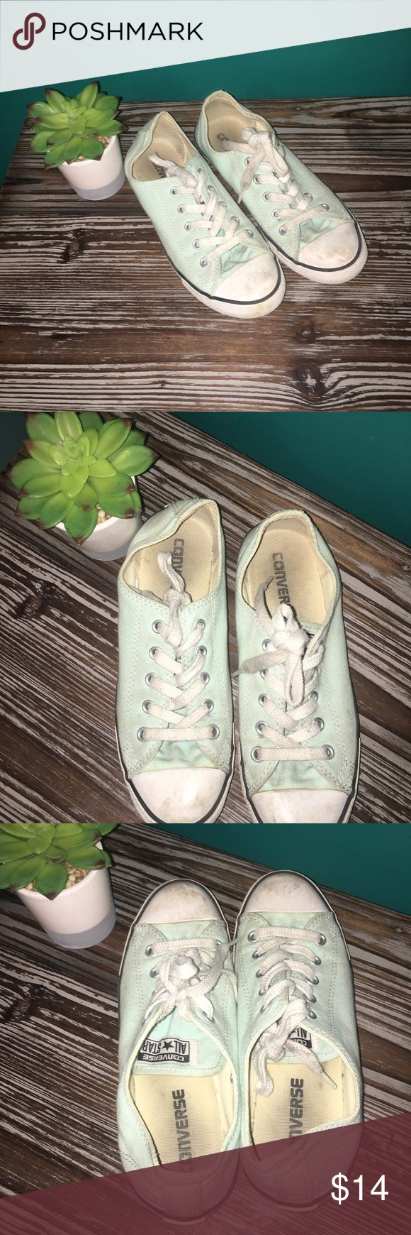 Girl's Teal Converse Pretty worn, but willing to accept offers! Nothing damaged Shoes Sneakers