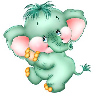 Funny Baby Elephant - Elephant Images - clipart