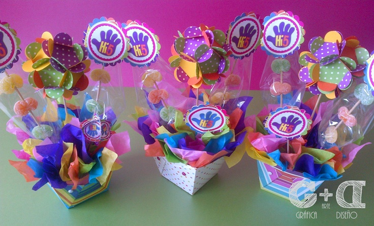 Centros de Mesa... Super Coloridos y con Gomitas!!!