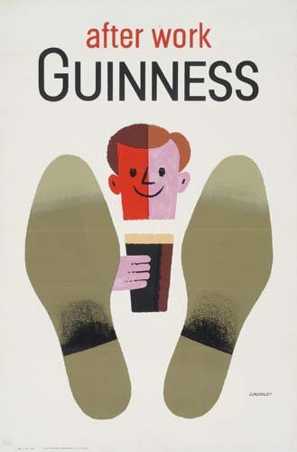 Vintage Posters. TOM ECKERSLEY AFTER WORK GUINNESS