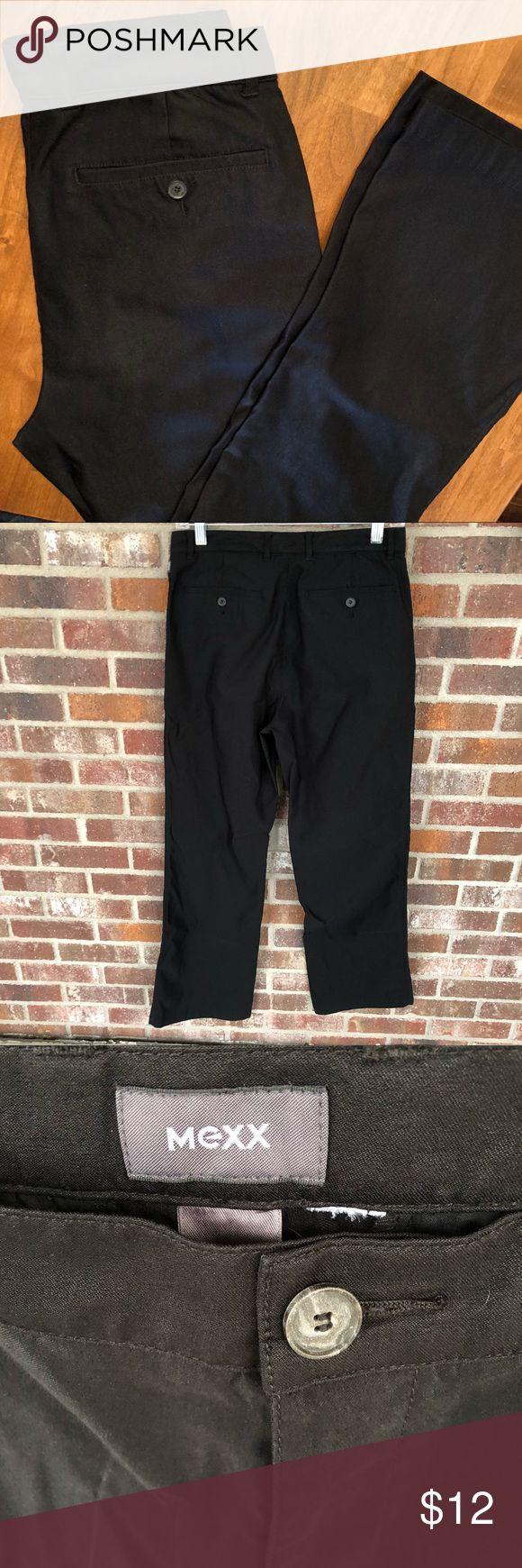 Mexx brand men's fashion pants Vintage men's black fashion pants circa 1990's. Flare leg. Synthetic material and sheen. Mexx Pants Dress