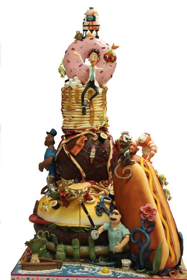 'cloudy with a chance of meatballs' cake