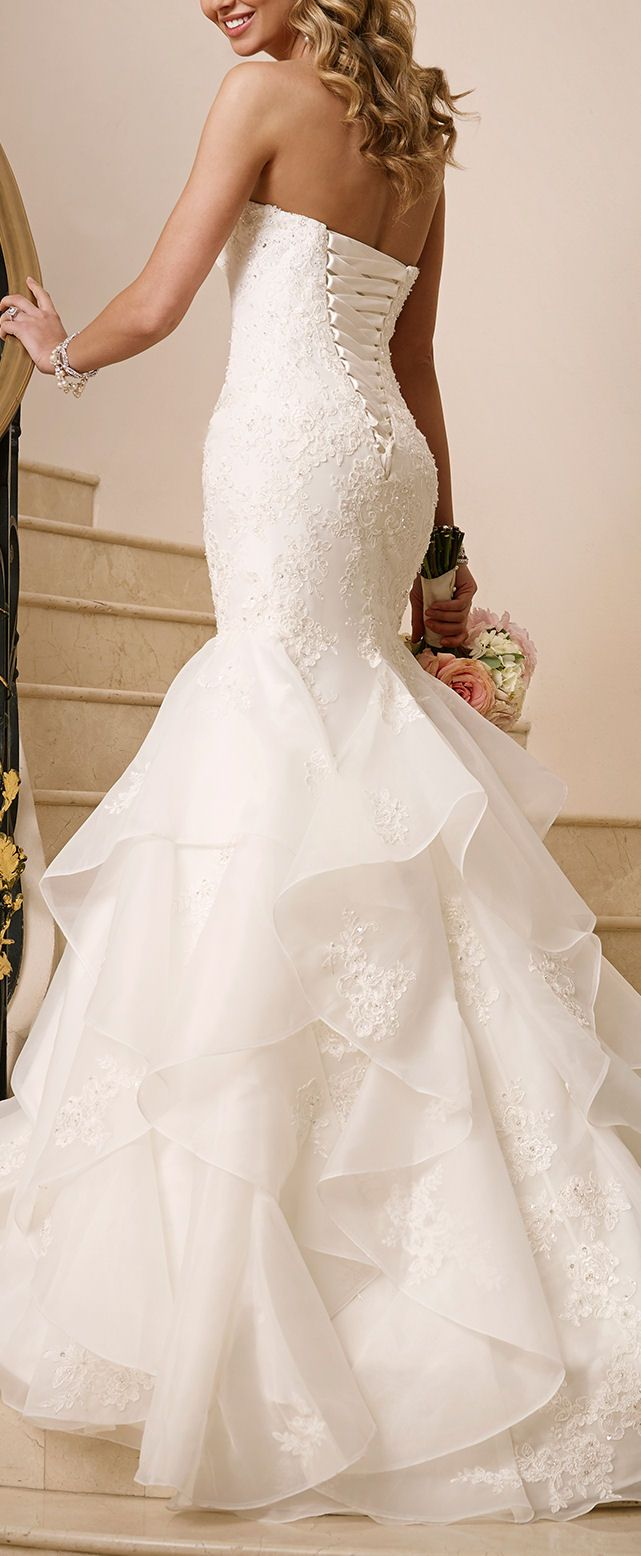 Sweetheart Ruffle Wedding Dress #dream #wedding #inspiration