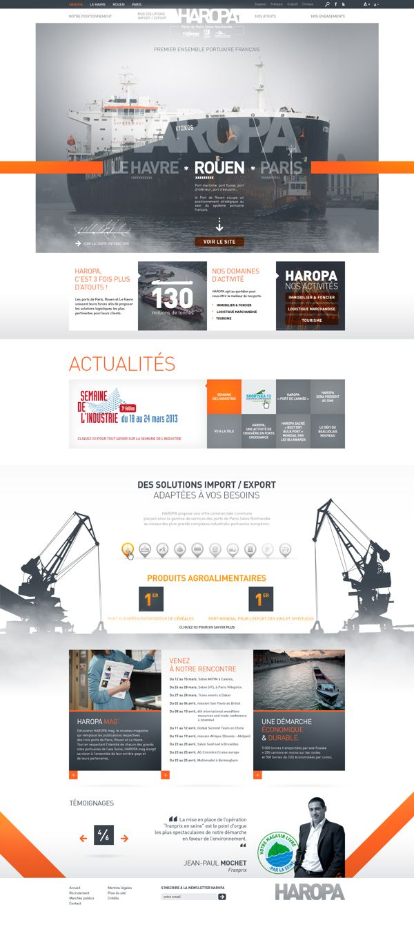 HAROPA - Ports de Paris - SITE WEB by Anthony Lepinay, via Behance | #webdesign #it #web #design #layout #userinterface #website #webdesign