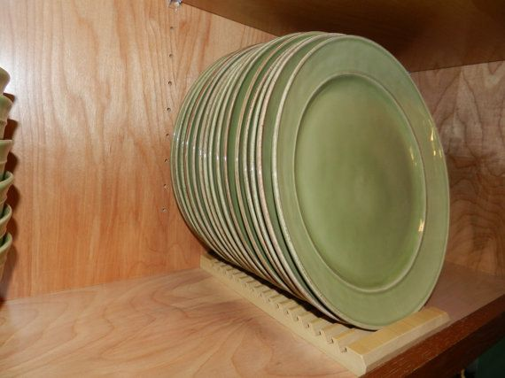 Wood Plate Rack For Vertical Plate Storage By SchultzWoodProducts, $23.00