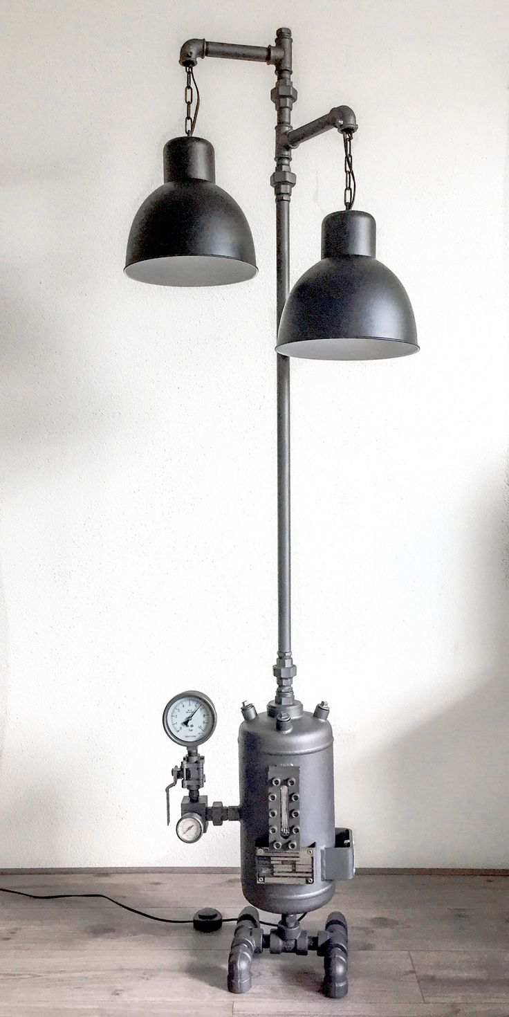 Vintage 40s cast iron metal deco industrial gooseneck desk lamp light - This Would Be Great In A Boys Bedroom
