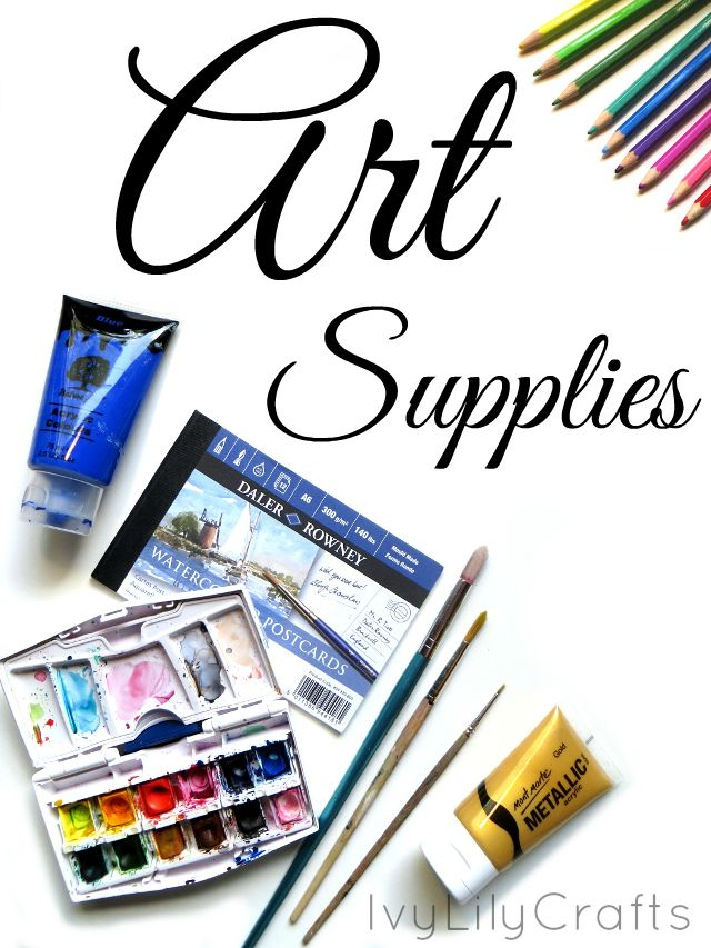 This is a list of most of the art supplies I use for painting and drawing…