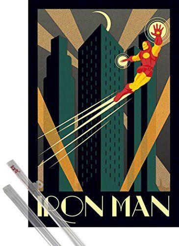 Poster + Suspension : Iron Man Poster (91x61 cm) Marvel Comics, Art Déco et kit de fixation 1art1®, http://www.amazon.fr/dp/B00LVCAYB6/ref=cm_sw_r_pi_awdl_4-7jxb0V0F1FH