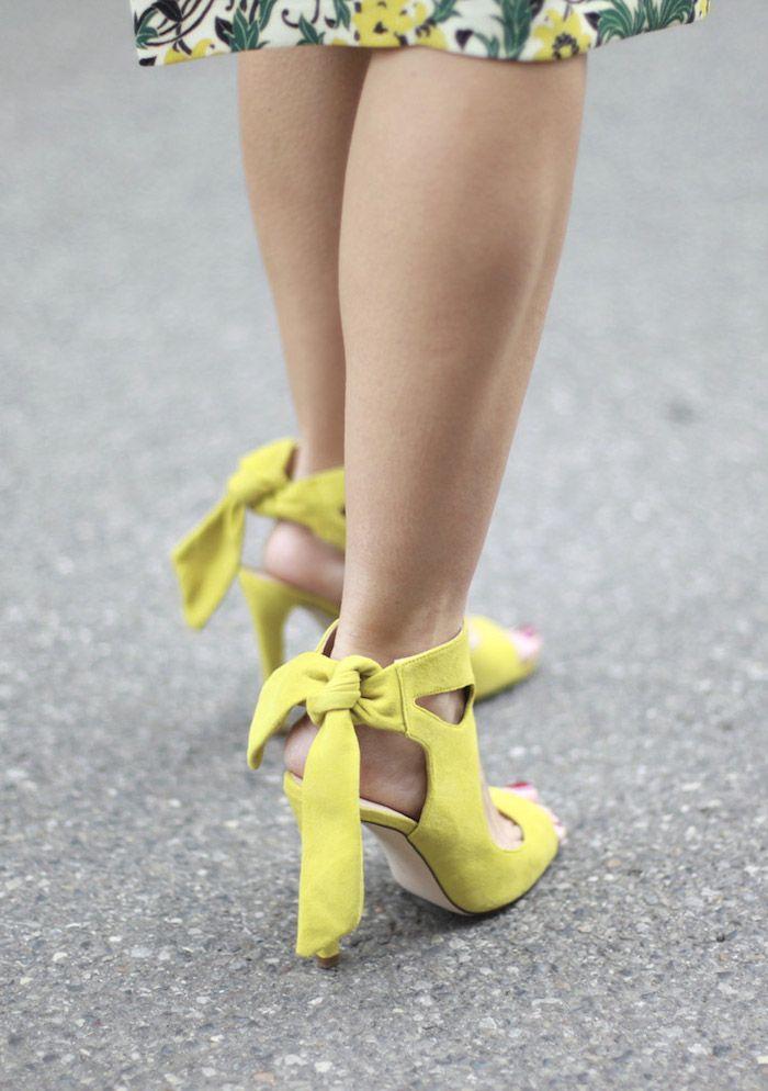 yellow suede heels | bartabac