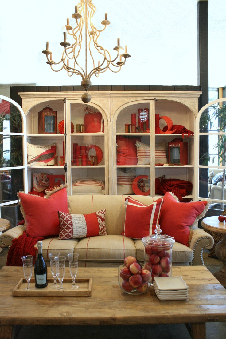 95 best lounge front room images on pinterest front for Red and cream living room ideas