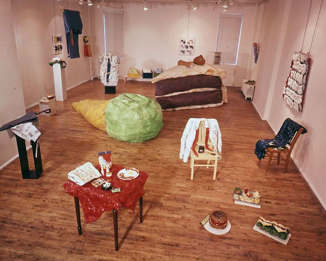 claes oldenburg the store green gallery installation 1962 first gallery showing of the. Black Bedroom Furniture Sets. Home Design Ideas