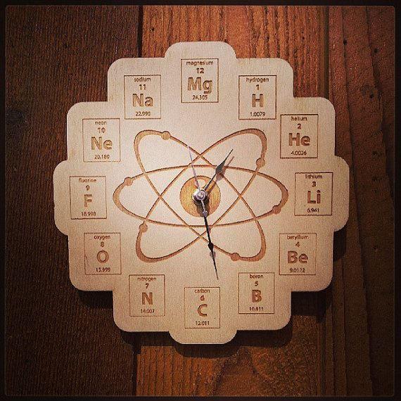 Orologio Atomico - al posto delle ore ci sono alcuni elementi della tavola periodica