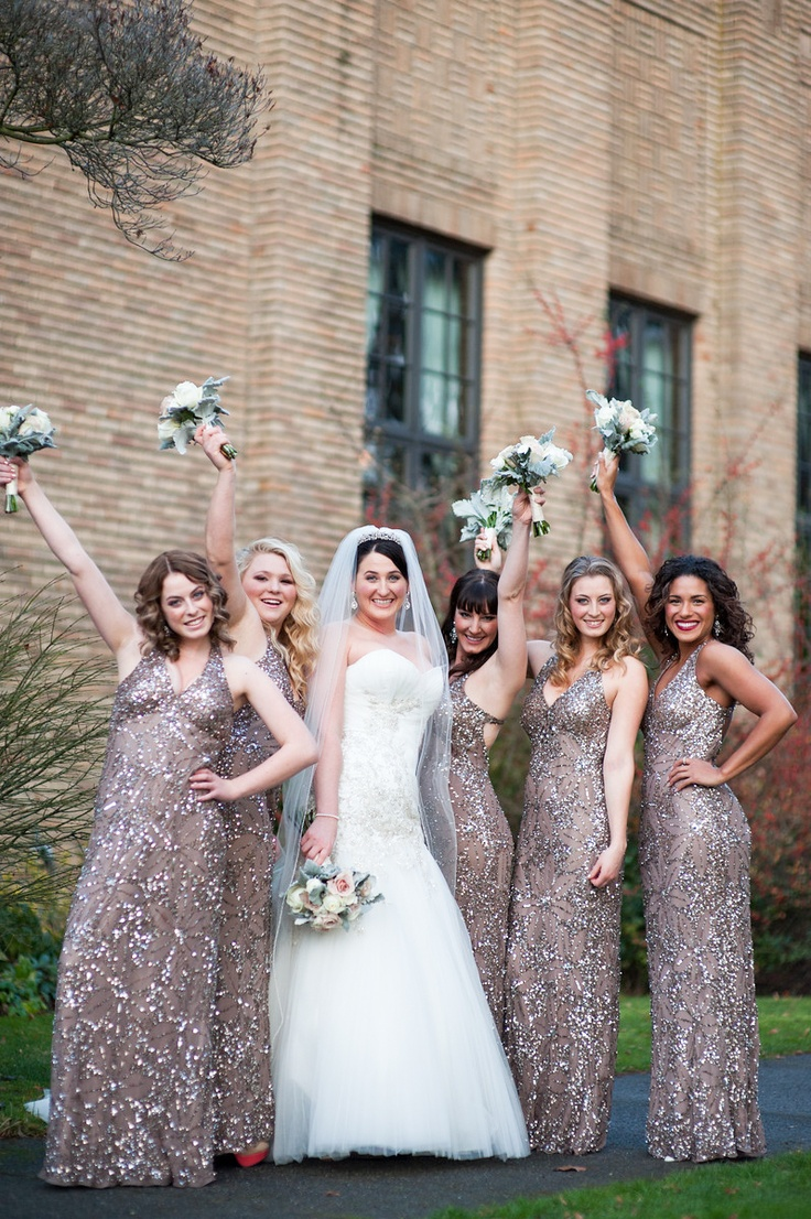 80 best glitz glam wedding images on pinterest marriage wedding glitz and glam bride and her bridesmaids ombrellifo Choice Image