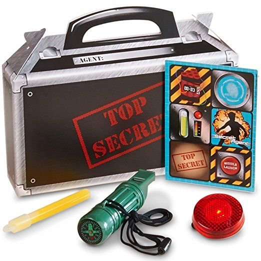 Secret Agent Party Supplies - Filled Favor Boxes (4) I think I might just go with this, it's already done! Super #easy #birthday #party #favor #ideas #nerf #spy #secret #vcmblog #amazon #affiliate  #agent just add #nerf #bullets to make it more of a #nerf party.