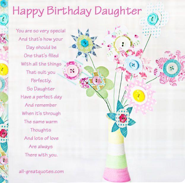 Daughter Birthday Quotes For Facebook Quotesgram
