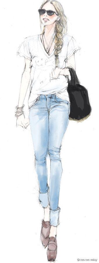xunxun-missy #fashion illustration #illustration