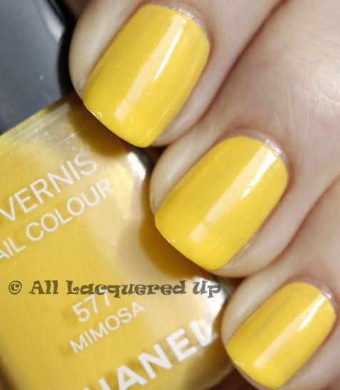 chanel 'mimosa'Chanel Mimosas, Polish Colors, Blue Dresses, Nails Colors, Perfect Nails, Call Yellow, Nails Polish, Mimosas Nails, Navy Blue