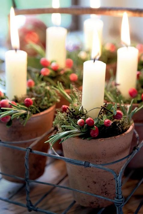 What a simple, warm way to create holiday decor!!!!!
