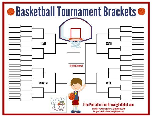 FREE Basketball Tournament Bracket Printable from http://growingupgabel.com @thegabels #printable