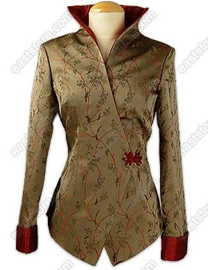 This chic Feminity Vine Brocade Jacket integrates traditional Chinese design with a beautiful...