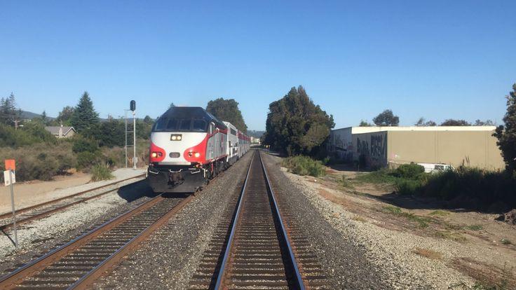 Caltrain HD 60 FPS: Gallery Car 4022 Cab Ride on Baby Bullet Train 329 (...