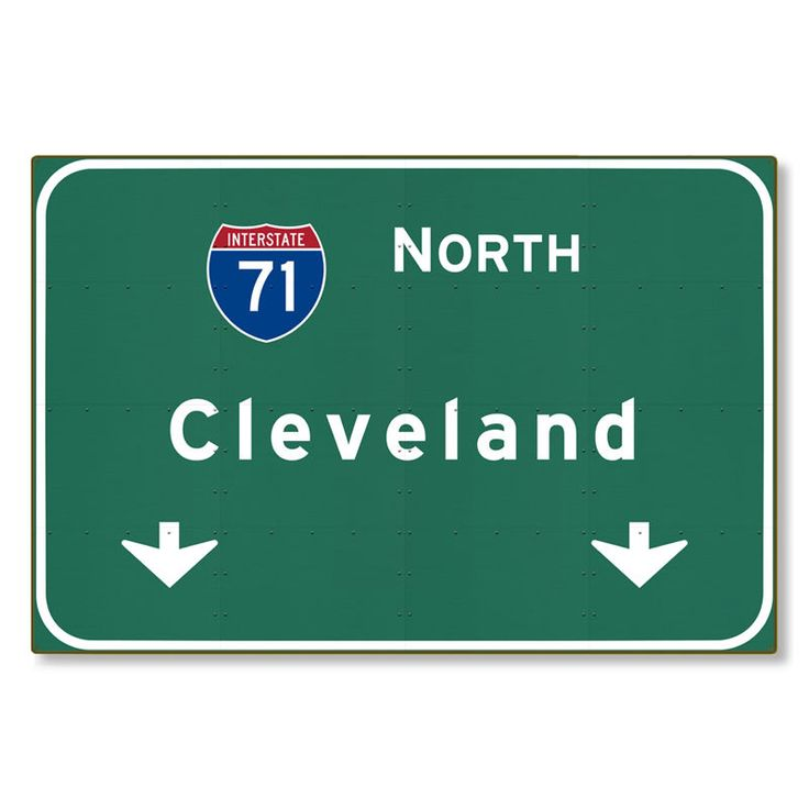 I-71 Interstate Cleveland Ohio oh Metal Highway Sign Art STEEL not tin 36x24