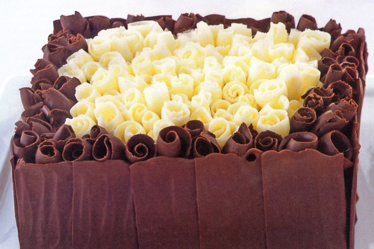Chocolate curl cake #wedding http://www.taste.com.au/recipes/9424/chocolate+curl+cake