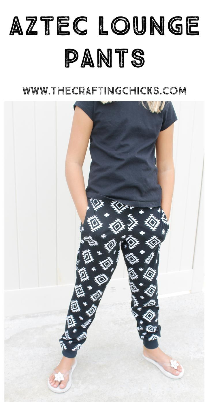 Aztec Lounge Pants - I have got to make these. SO CUTE!