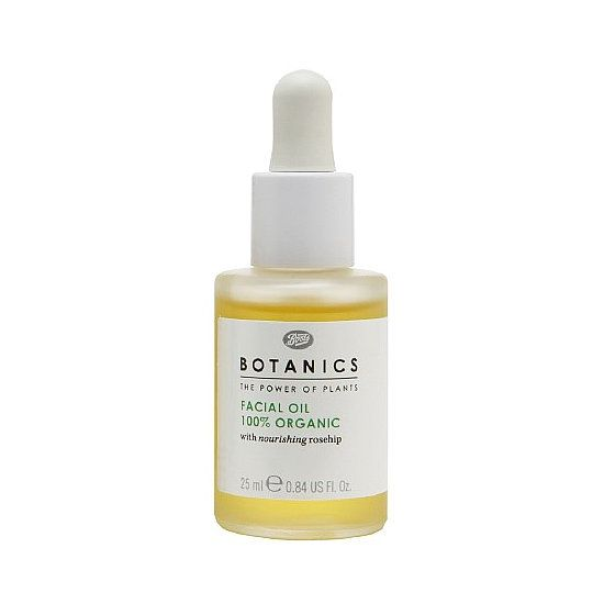 Trade in your face moisturizer for the Boots Botanics Facial Oil ($9), which features 100 percent organic rosehip oil to hydrate and protect your skin with natural fatty acids. Think food for your skin.