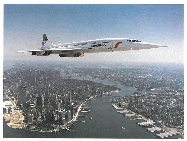 Truly AMAZING photo of British_Airways Concorde flying over New York!