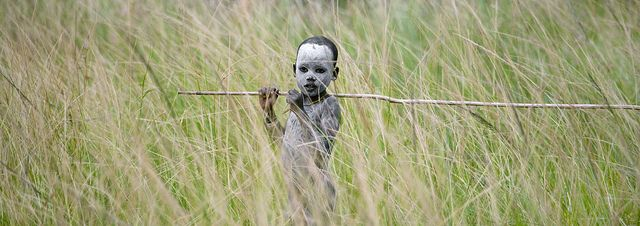 Surma boy at Donga stick fighting - Ethiopia by Eric Lafforgue, via Flickr