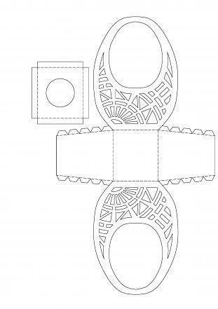 Шаблон для вырезания корзинки на Пасху