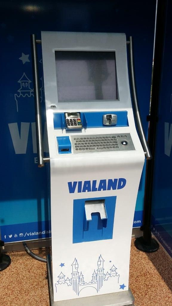 Ticketing kiosk for theme park Vialand. No more queues at the gates!