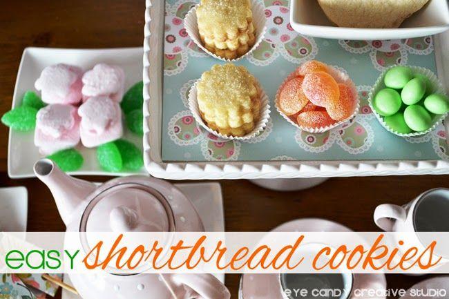 Easy Shortbread Cookie RECIPE @eyecandycreate #shortbreadrecipe