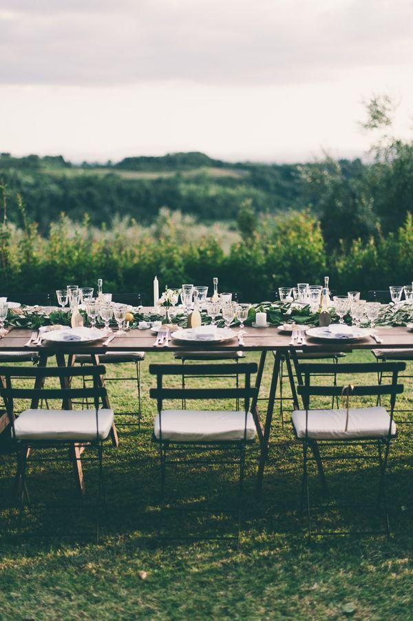 Italian destination wedding, photo by Lisa Poggi http://ruffledblog.com/tuscany-destination-wedding #receptions #destinationweddings