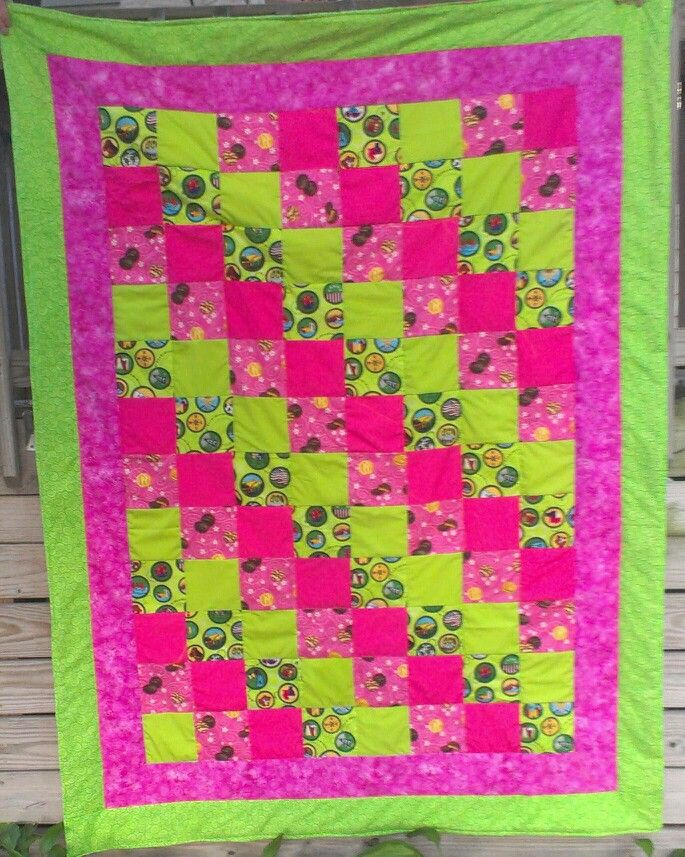 Girl scout themed quilt