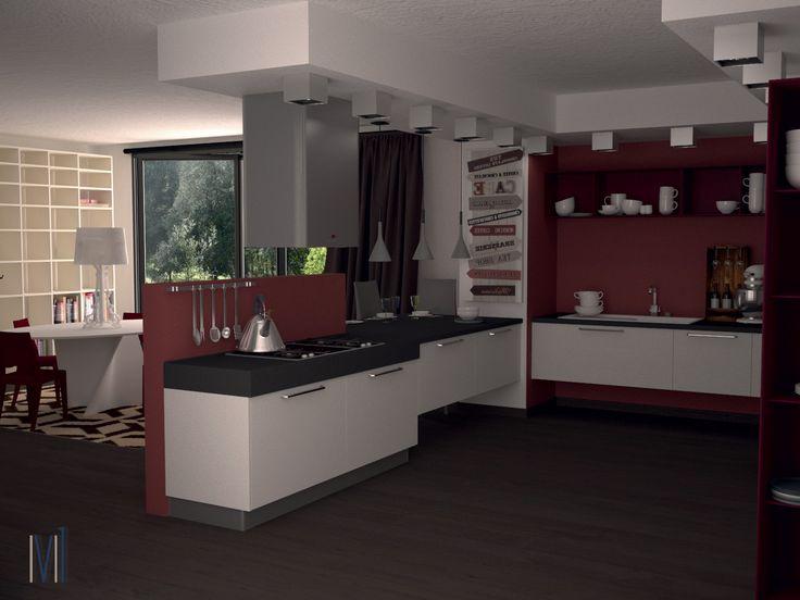 Marsala Kitchen  #13seven #interiordesign #homedesign #arredamentointerni #interiordecoration #furniture #homedecoration #lovedesign #furniturehome