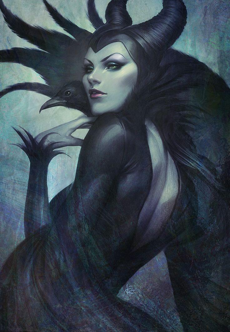 """Stanley """"Artgerm"""" Lau – subtelna erotyka - AUTORSKIE - recenzja na Dzika Banda    Malicious, fantasy art, comic, dark wizard, witch, beauty, crow, gothic, evil."""