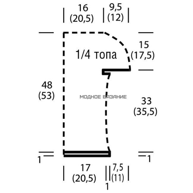 Двухцветный топ из льна Ажурный топик с круглой кокеткой связанный из  льняной пряжи двухцветными   тонкими полосками.Топ вяжется единым полотном круговыми рядами.Легкий и нежный топик сочетается с мини юбками,брюками и летними бриджами.Модель из журнала *Сабрина* №7-2016.    РАЗМЕРЫ: 34/36 (40/42)  ВАМ ПОТРЕБУЕТСЯ: Пряжа (85% вторично переработанного эко-льна, 15% льна; 140 м/50 г) — по 100 (150) г голубой и цв. экрю; круговые спицы №4; крючок №3.  ПЛОТНОСТЬ ВЯЗАНИЯ: 2 п. х 33 круг. р. = 10…