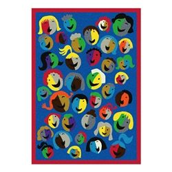 Joyful Faces Rug Rectangle 7 8 Quot W X 10 9 Quot L