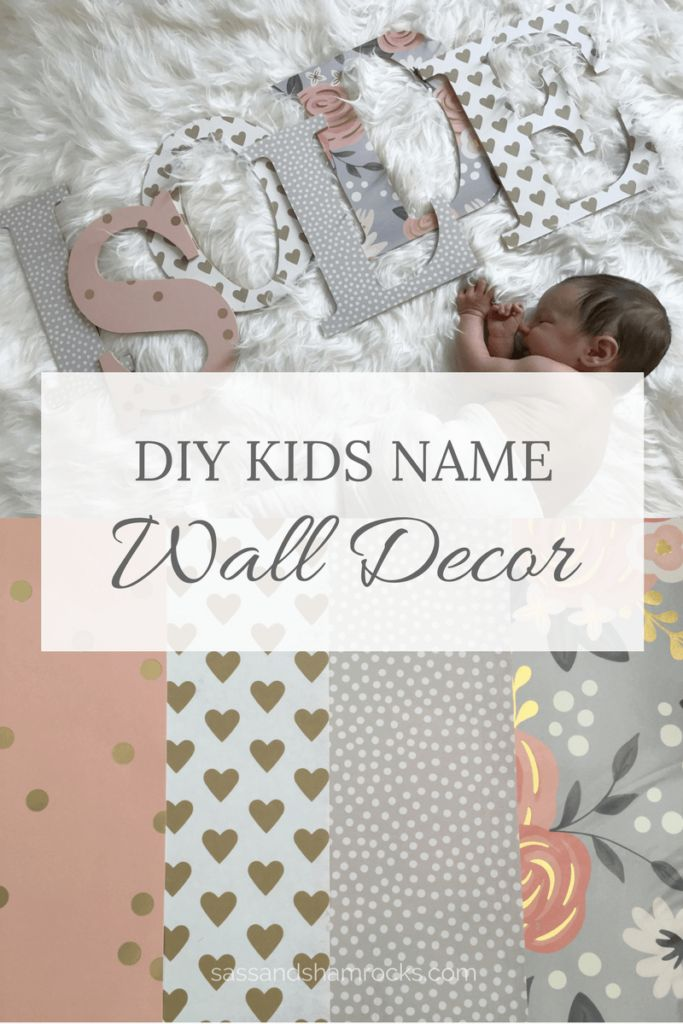 Kids Wood Letter Name Wall Decor
