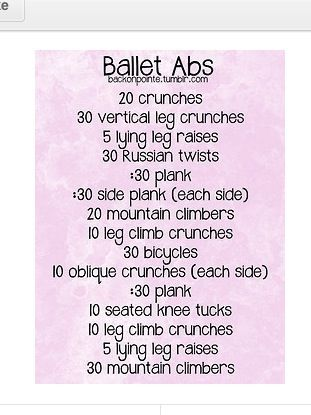 so lucky to still have abs after all these years dancing works! Ballet workout