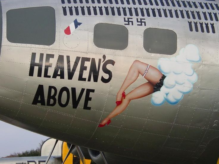 "B-17G Flying Fortress ""Heaven's Above"" on display at the US Air Force History And Traditions Museum in San Antonio, Texas"