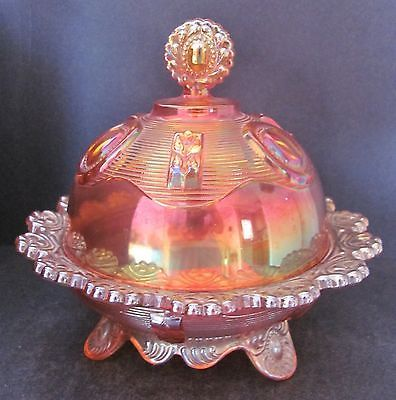 Imperial Carnival Glass Footed Butter Cheese Dish Marigold Dewey 972 C 1951 | eBay