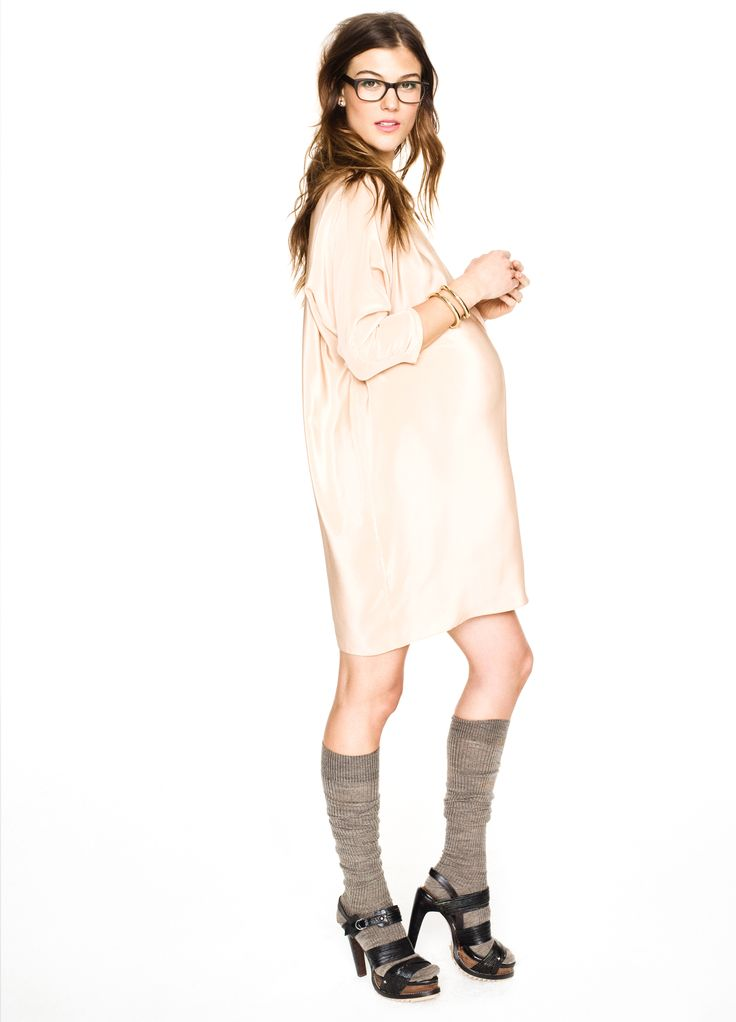 i am not pregnant, but damn, that is cute. Hatch Collection THE SHIRT DRESS. I like the shoes too.