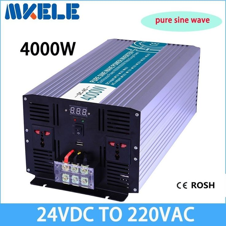 Rated Power: 4000W. Output Waveform: Pure Sine Wave. Waveform Distortion: <3%(Linear Load). Pure sine wave / Pure sine wave. Sometimes,the color of the inverter will be change,Because the production of different batches. | eBay!
