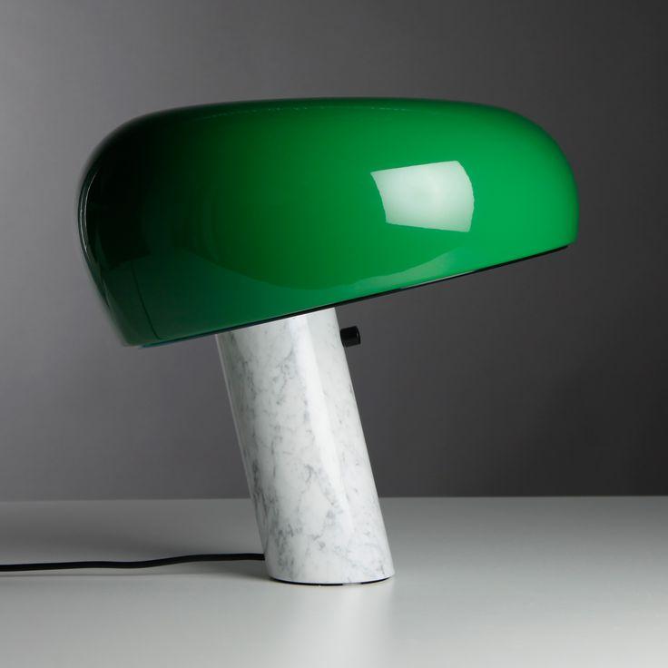 Snoopy bordlampa från Flos, formgiven av Achille Castiglioni och Pier Giacomo Castiglioni 1967.