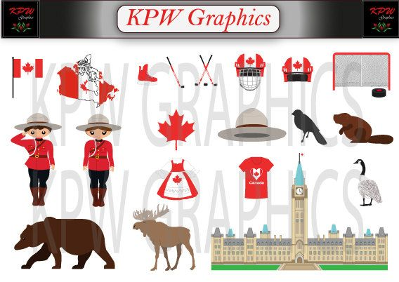 Canada Dolls of the World Clipart Set in a PNG by KPWgraphics